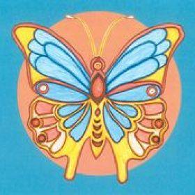 Schmetterling in aufgehender Sonne
